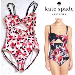 Kate Spade cut out rose garden one piece swimsuit